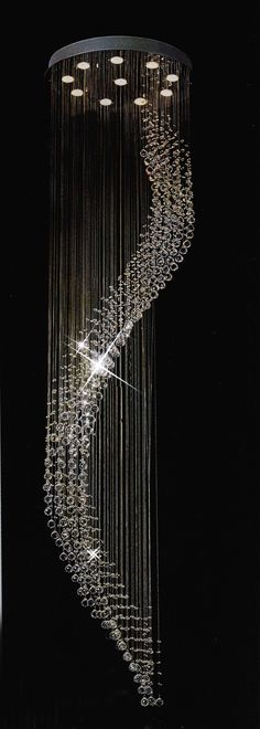 F93-9415/10 Gallery Modern / Contemporary CRYSTAL RAINDROP FIXTURE $800