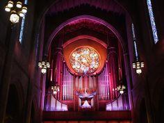 ダウンタウン西側マッカーサー・パーク・レイク付近の建物探訪記  First Congregational Church of Los Angeles Architecture