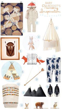 Cominghometoroost blog. Nursery inspiration. Love all woodland things on this blog