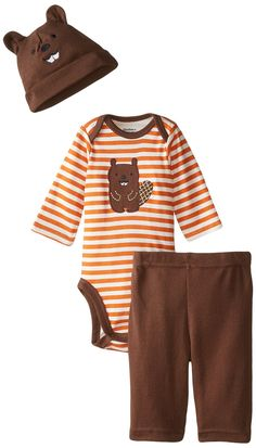 Gerber Baby-Boys Newborn 3 Piece Bodysuit Cap and Pant Set, Orange/Brown Beaver, 12 Months Navy And Brown, Orange Brown, Baby Boy Newborn, Baby Boys, Gerber Baby, Sweater Refashion, Going Out Outfits, Shirts For Teens, Boyfriend Shirt