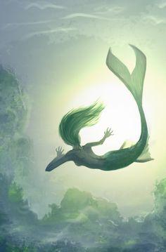 Mermaid SpeedPaint by sweetangel0467.deviantart.com on @deviantART