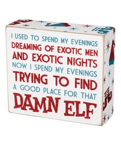 'Place For Elf' Box Sign