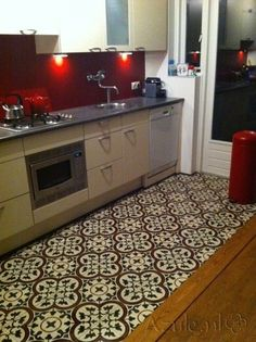 Cementtiles kitchen - Negra 16 - Project van Designtegels.nl