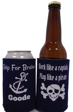 White Anchor Embroid Ship Boat Leaning Holder Blk Warmer Cooler Insulator Koozie Other Bar Tools & Accessories