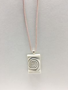 Elegant Ceramic Pendant with Pink Adjustable Leather Cord