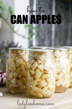 Let's learn how to can apples at home. Canned apples can be used in many desert recipes later! Canning aples is simple and a great way to preserve apples. #canningapples #cannedapples #howtocanapples Apple Tree, Red Apple, Canning Apples, Raising Farm Animals, Apple Varieties, Honey Syrup, Grow Organic, Granny Smith, Do It Yourself Projects