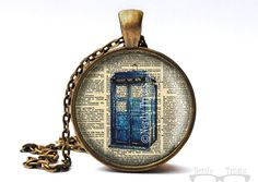 Doctor Who Tardis Dictionary Page Glass Dome by NerdyTreats, $15.00