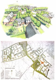 Knockage View Concept Masterplan used to justify greenfield release. from DoENI (March 1996) Belfast Urban Area Plan 2001: Reassessment of Development Land - Urban Design Technical Supplement (Department of the Environment for Northern Ireland, Belfast).