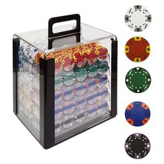 Trademark Poker Tri-Color Ace King Clay Poker Set with Acrylic Case - 1000 Chips - Go ahead - stage that home poker tournament. You'll have plenty of chips for it with our Trademark Poker 1000 Chips Tri-Color Ace King Clay Poker. Clay Poker Chips, Poker Chips Set, Poker Set, Poker Table, Clear Acrylic, Decorative Boxes, King, Cards