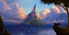 Visual Development, Great Britain, Monument Valley, Castle, Tower, Europe, Animation, Artwork, Travel