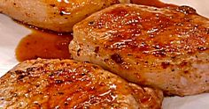 Applesauce-Glazed Pork Chops These tasty, tender chops are glazed with a sweet, smoky, apple-flavored sauce. They're on the table in no...