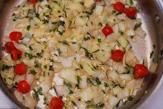 JuliasAlbum.com:   Lobster pasta with porcini and tarragon cream sauce