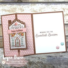 Jolly Gingerbread - November 2020 Paper Pumpkin Kit | Lynn Dunn Christmas Cards To Make, Holiday Cards, Winter Cards, Christmas Stuff, Happy Holidays Wishes, Stampin Up Paper Pumpkin, Simply Stamps, Pumpkin Cards, Hand Stamped Cards
