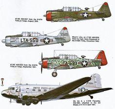 All sizes   North American AT-6/LT-6 Texan & Douglas C-47B Flareship (Korean War)