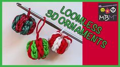 Get your Rainbow Loom Bands and a crochet hook and you can make a Ornament charm for Christmas. You can use a crochet hook or the hook that came with you. Rainbow Loom Tutorials, Rainbow Loom Patterns, Rainbow Loom Creations, Rainbow Loom Bands, Rainbow Loom Charms, Crazy Loom Bracelets, Rainbow Loom Bracelets, Weaving Loom Diy, Loom Craft