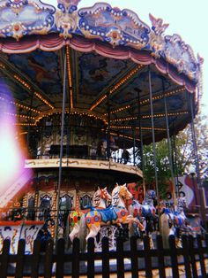 Carousel fun child