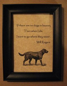 Print of Black Lab Dog with Heaven Quote 5 x 7 by PrintsToLove
