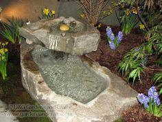 hypertufa water feature