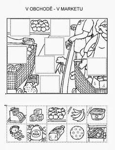Z internetu - Sisa Stipa - Picasa Web Albums Preschool Worksheets, Kindergarten Activities, File Folder Activities, Preschool Writing, Animal Crafts For Kids, Hidden Pictures, School Items, Cut And Paste, Math For Kids