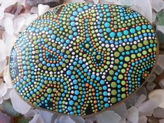 Dot Art on Stone/Painted Stone/Painted by TheLakeshoreStore, $20.00