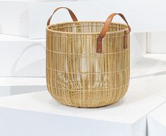 i love things with multiple uses like this palm reed basket with handles.