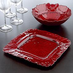 Reef Glass Serving Dishes at Cost Plus World Market..... To serve the perfect Home made dinner :)