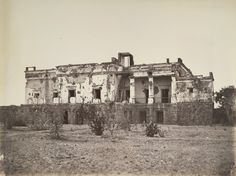 Front of Hindoo Rao's House, [Delhi]. Part of a portfolio of photographs taken in 1858 by Major Robert Christopher Tytler and his wife, Harriet, in the aftermath of the Uprising of 1857.