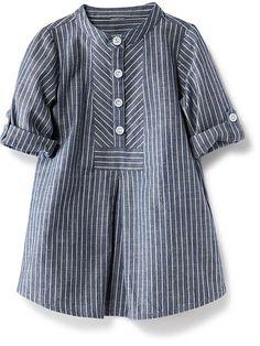 Striped Chambray Shirtdress Product Image