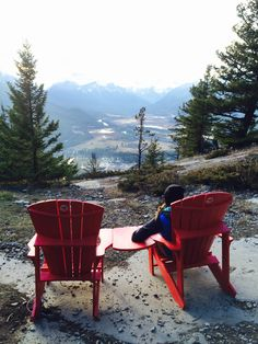 Can you find all the red chairs around Banff National Park? Canadian Forest, Canadian Rockies, Banff Canada, Alberta Canada, Banff National Park, National Parks, Canada Travel, Canada Trip, Parcs