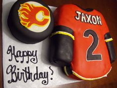 I could do the puck portion. Sweet Art Cakes: Calgary Flames!