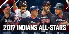 Five Cleveland Indians players named to All-Star Game; first time Tribe's had five since 2004
