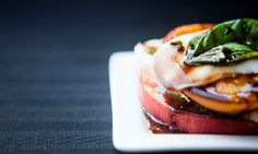 Grilled Peach, Mozzarella & Basil Caprese:  Teacher by Day, Chef by Night