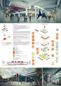 Competition Asks Young Architects to Transform Abandoned Factory into Cultural Center,Mention: INCLOUDS ARCHITECTURE (Sara Averardi, Igor Stipac, Roberto Mattioli). Image Courtesy of Young Architects Competitions Architecture Panel, Architecture Graphics, Architecture Drawings, Concept Architecture, Installation Architecture, Cultural Architecture, Architecture Design, Project Presentation, Presentation Layout