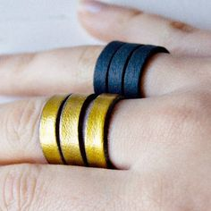 Create your own comfy leather rings in less than 5 minutes!
