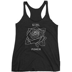 Workout Tank Top Women's Yoga Tank Girl Power Tank Running Tank... (€23) ❤ liked on Polyvore featuring activewear, activewear tops, grey, tanks, tops, women's clothing and yoga activewear