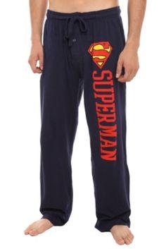 DC Comics Superman Logo Men's Pajama Pants. idc that they're men's, i want them