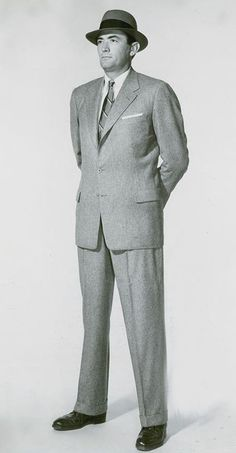 Ross Suit  1950s Men's Fashion | In 2008 my grandson (age 14) stated,