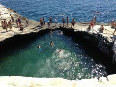 Natural Swimming Pool:  Giola, Thasos, Greece