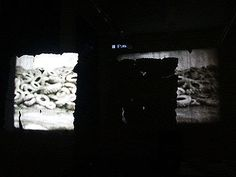 simona gleissnerova - film projection, porcelain screen, 85cm x 85cm, 2006