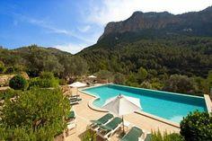 Solivaret outdoor pool from above. #Mallorca. Spain. solivaret.com