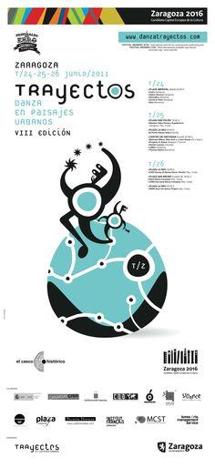 Material gráfico Trayectos 2011.  Diseño: Miguel Iguacen. T 26, Lily, Zaragoza, Scenery, Orchids, Lilies