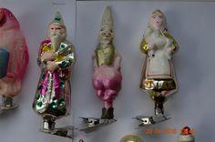 Старинные новогодние елочные игрушки на прищепках 10 штук одним лотом…