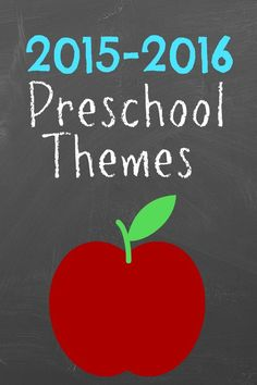 2015-2016 weekly preschool theme ideas.  Great ideas for any special education class.  Organized by month.  Read more at:  http://moreexcellentme.com/2015-preschool-themes/