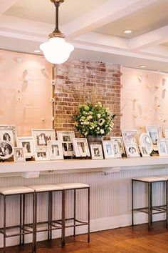 Gorgeous idea to include wedding photos of family members