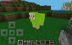 ERMMYGURD! a green sheep