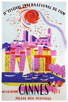 Cannes Film Festival 1951 PosterVintage 1951 advertising poster announcing the annual Cannes Film Festival 1951Posterwhich is held in the Cannes,Franceevery year.The Final Touch to your decorationOur posters create a highly decorative visual getaway in your home decor.Hang Cannes Film Festival 1951 Posterand create a new window onto your favourite places and the most precious moments of your life.Poster SpecificationsThe frame is not included in the prices. If you are interested in the… Film Festival Poster, Cannes Film Festival, Music Posters, Cool Posters, Life Poster, Palais Des Festivals, Cannes France, Advertising Poster, Precious Moments