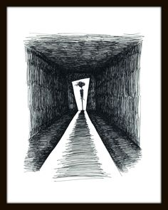 The Hallway Limited Edition Signed Print – Paper and Fabric