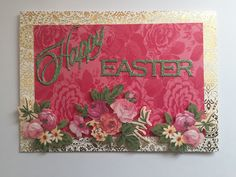 Easter card created using Anna Griffin products.