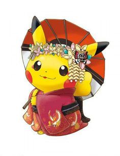 #Pikachu en geisha de Kyoto #Pokemon Center