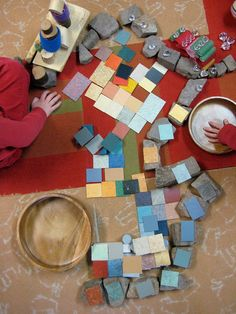 "Great ideas for block area- ""loose parts"""